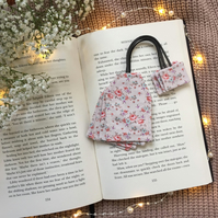 Tea bag bookmark, book and tea lover gift