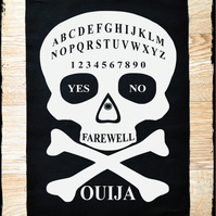 Ouija Board Large Punk Back Patch 10x14 inches