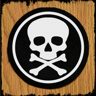 Skull Round Punk Patch 70mm