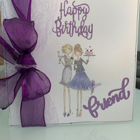 Bespoke Friend Boxed Personalised Birthday card