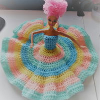 up-cycled doll crochet dress
