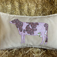 Dairy Cow Applique Cushion