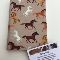 HORSE NOTEBOOK, Tan, Horse Lover, Stationery, A6, EQUESTRIAN, Handmade, Gift