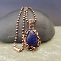 Lapis Lazuli and Copper Necklace