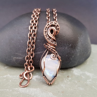 Moonstone and Copper Necklace