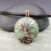 Aventurine and Copper Tree of Life
