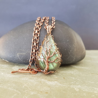 Labradorite and Copper Tree of Life Necklace