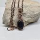Dainty Blue Goldstone and Copper Pendant on a Copper Chain