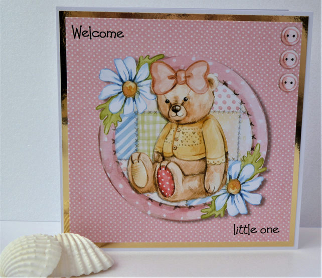 C3652 - New baby Girl Card