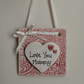 Mini hanging tile heart-Mummy