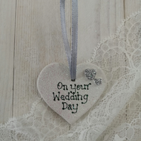 Small Ceramic Heart - Wedding Day