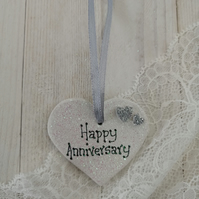 Small Ceramic Heart - Anniversary