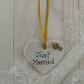 Small Ceramic Heart - Just Married