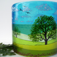 Oak by the Sea fused glass curve
