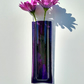 Violet fused glass wall vase
