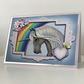 A5 Personalised Hand Made Embellished Rainbow Unicorn Birthday Card