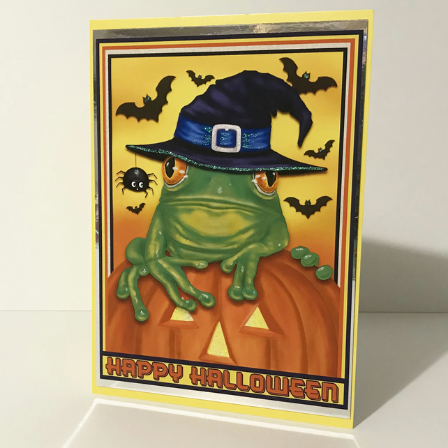 Personalised Hand Made Embellished  Halloween or Birthday Card
