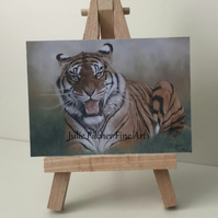 "ACEO Print - Tiger - ""Final Warning"""