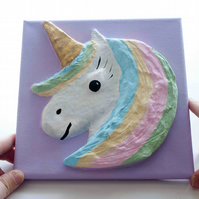Make Your Own Unicorn Head 3D Picture. Craft Kit. DIY Arts and Craft Kits