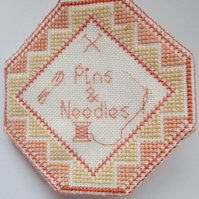Pins and needles Case, Cross Stitch Kit