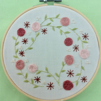 Hand embroidery kit - Blush Embroidered Flowers
