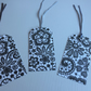 Lace look gift tags
