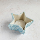 Blue star tealight holder