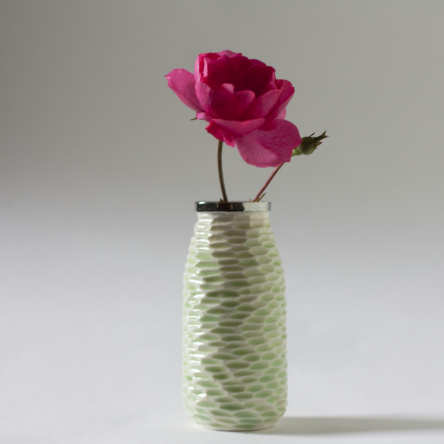 Green Milk Bottle Vase