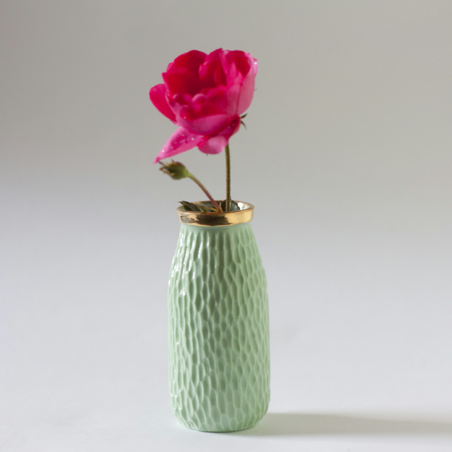 Mint Green Milk Bottle Vase