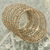 Beaded Statement Memory Wire Bracet