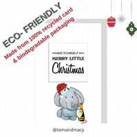 Christmas Card, Have Yourself A Merry Little Christmas, Eco friendly card