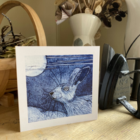 Greetings Card. March Hare.