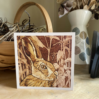 Greetings Card. Autumn Hare
