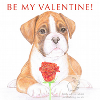 Jake the Boxer - Valentinet Card