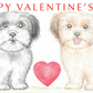 Two Little Dogs - Valentine Card