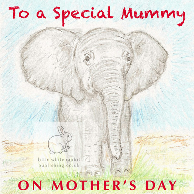 Benny the Baby Elephant - Mother's Day Card