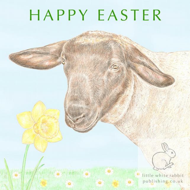 Jake the Sheep - Easter Card