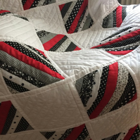Machine Quilted Strip Quilt
