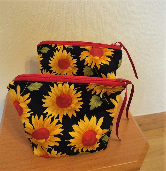 Sunflower Makeup Bag