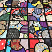 stained glass patchwork quilt