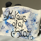 MAKEUP OF A STAR MAKEUP BAG WITH SWAROVSKI CRYSTALS - GIFT FOR MAKEUP LOVER