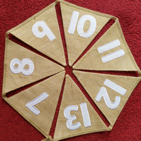 Numbers Straight Leg Bunting Hessian - 0-10; 1-10; 0-20;1-20; 0-50; 1-50
