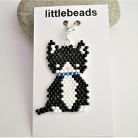 Black and White Cat Charm