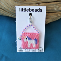 Pink Unicorn Miniature Handbag Charm