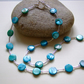Turquoise Dyed Shell Necklace