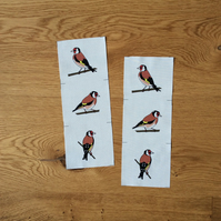 Goldfinch fabric strips