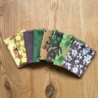Autumn woodland fat quarter bundle