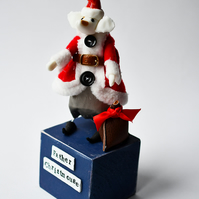 Kathryn Ashcroft Father Christmouse Limited Edition sculpture 5 of 8