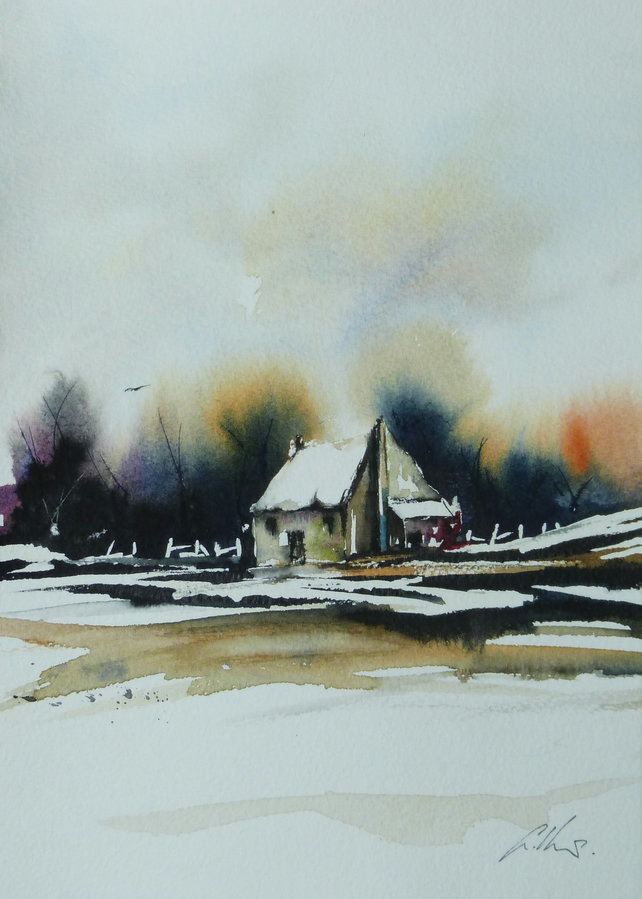 Isolation, Original Watercolour Painting.
