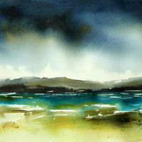 Bay, Original Watercolour Painting.